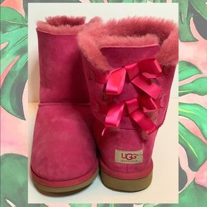 UGG • Pink Bailey Bow Boots